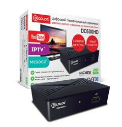 ТВ приемник DVB-T2 D-COLOR DC 600 HD
