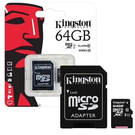 Карта памяти SDmicro Card 64Gb Kingston 10 Class, UHS-I
